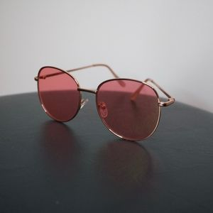 Pink-Tinted Sunglasses
